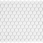 1'' Matte Hexagone White